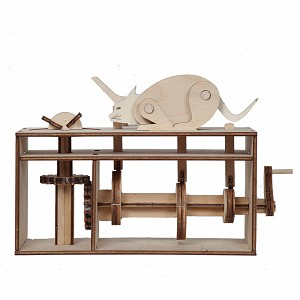 Merlin The Magician - Mouse Trap (Chiappatopo) Riciclandia RIC_10 Laser Cut Wooden Model Kit - Made in Italy
