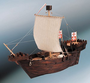 Dusek Hansa COG (Hanse Kogge) 14th Century Model Ship Kit D003 - Scale 1:72