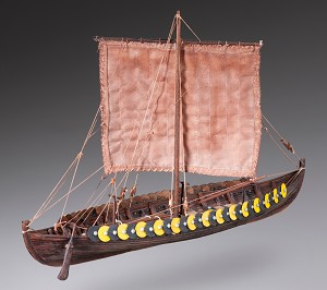 "Dusek D002 Viking Gokstadt - Plank-On-Frame Wood Ship Model Kit - 1:72 Scale - 305mm (12-1/4"") Long"