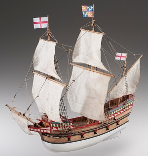 "Dusek D017  Golden Hind - Plank-On-Bulkhead Wood Ship Model Kit - 1:72 Scale - 500 mm (20"") Long"
