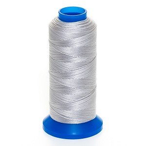 "Griffin Rigging Line @.012"" x 656yds (@.3mm x 600m) Light Gray Bead Cord Jewelry Nylon Spool"