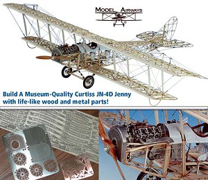 MODEL AIRWAYS CURTISS JN - 4D JENNY 1:16 SCALE