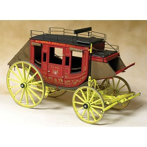 MODEL TRAILWAYS CONCORD STAGECOACH 1:12 SCALE MODEL KIT