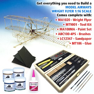 WRIGHT FLYER WITH TOOLS & MATERIALS MODEL KIT