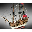 Mamoli MM18 HMS Endeavour - Wooden model ship kit with pre-carved hull - Scale 1/143 - Length 11.8 in - Height 10.2 in