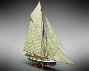 Mamoli MV43 Puritan Model Ship Kit - Coppa America 1885 - Scale 1/50 - Length 34.7 in - Height 36.8 in