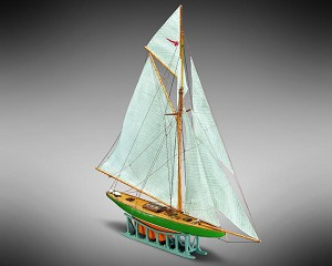 Mamoli MM63 Shamrock - Wooden model ship kit with pre-carved hull - Scale 1/170 - Length 310 mm - Height 318 mm