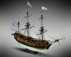 "Mamoli MV20 - HMS Beagle - Wood Plank-On-Bulkhead Ship Model Kit - Scale 1/64 - Length 645 mm (26"")"