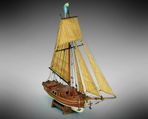 "Mamoli MV33 Gretel - Wood Plank-On-Frame Model Ship Kit - Scale 1/54 - Length 410 mm (16"")"