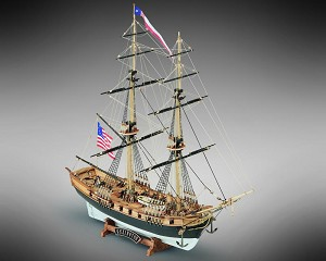 "Mamoli MV48 - Lexington - Wood Plank-On-Frame Model Ship Kit - Scale 1/100 - Length 420 mm (17"")"