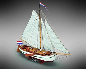 "Mamoli MV51 Catalina - Wood Plank-On-Frame Ship Model Kit -  Length: 570 mm (23""), Height: 485 mm (19"") Scale 1/35"