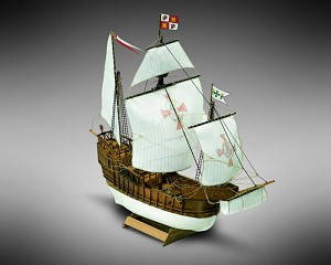 "Mamoli MM02 - Santa Maria - Pre-Carved Wooden Hull Ship Model Kit - Scale 1/106 Length 310mm (12"")"