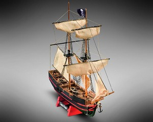 "Mamoli MM05 - Captain Morgan - Pre-Carved Wooden Hull Ship Model Kit - Scale 1/135 Length 300mm (12"")"