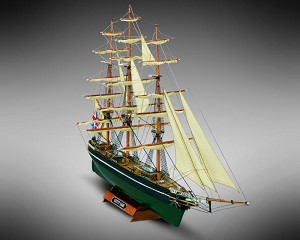 "Mamoli MM08 - Cutty Sark - Pre-Carved Wooden Hull Ship Model Kit - Scale 1/250 Length 342mm (13"")"