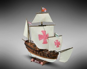 "Mamoli MM15 - Pinta - Pre-Carved Wooden Hull Ship Model Kit - Scale 1/106 Length 300mm (12"")"