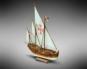 "Mamoli MM16 - Nina - Pre-Carved Wooden Hull Ship Model Kit - Scale 1/106 Length 235mm (9"")"