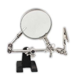 "Hawk 2"" Helping Hand Magnifier with 2 Strong Alligator Clips"