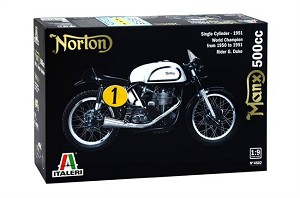Italeri Manx 500CC 1951 Single Cylinder Motorcycle  1:9 Scale