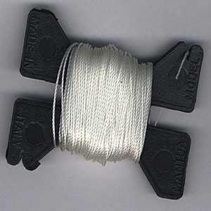 JEWELRY NYLON RIGGING LINE - WHITE .2MM X 9M
