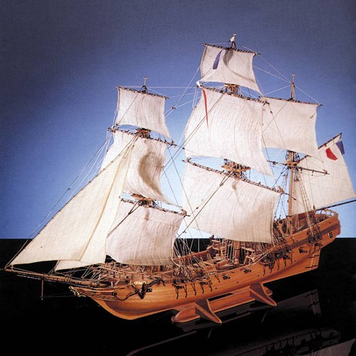COREL LE TONNANT WOOD SHIP MODEL KIT    1:50