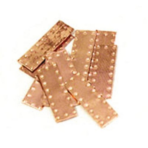 Model Shipways DIMPLE COPPER PLATES (6 x 12mm) 50 pack