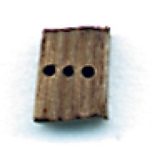 "BLOCK, Triple, Walnut 13/32"" (10mm) 40/pack"