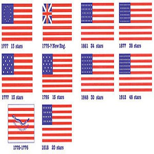 "Model Shipways Revolutionary War Flags & US Flags, Flags of the Revolution 1/2"" x 1"" 1 Sheet"