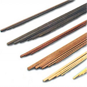 "Model Shipways Cherry Wood Strips 1/8 x 1/8 x 24""PACK OF 6"