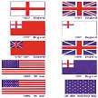 "Model Shipways US & BRITISH FLAGS 1/2"" x 3/4"" CLOTH"