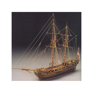 "Mantua Model 793 HMS Racehorse Bomb Ketch - Wooden Plank - On - Bulkhead Kit Scale 1:47 21"" Long"