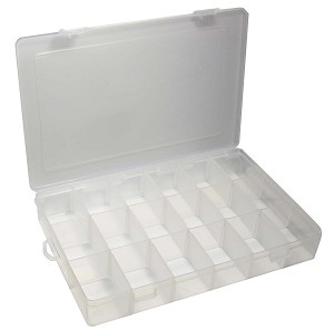 "18-Section Plastic Container, 10-3/4"" x 7"" x 1- 5/8"""