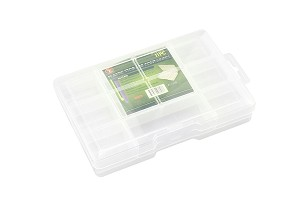 "11-Compartment Storage Box with Lock,  7-1/2"" x 5"" x 1- 1/2"""