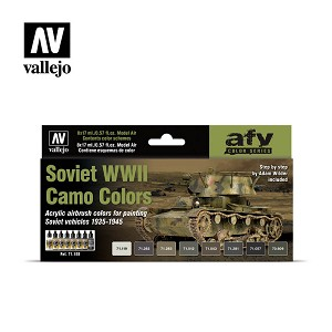 Vallejo Model Air Soviet WWII Camo Colors 8 Bottles