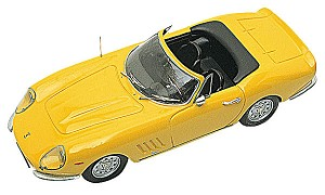 Tameo TMK001 Ferrari 275 GTB/4 Road Car - Spyder Nart Stradale 1966 - White Metal Car Kit - Scale 1:43, Made in Italy